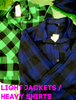 15pc $2.99 Lightweight FLANNEL Jackets / Heavy Shirts #15791w (h-4-3)