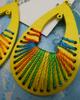 30pc GRAB BAG Chunky WOOD Earrings #16102i (n-1-4)