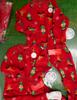 11pc KIDS Red Fleece Sleepers FAMILY PJs #16647Q (q-1-6)