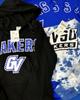 6pc VS PINK Michigan GVSU Hoodies T-SHIRT DRESSES #16704A (o-3-5)