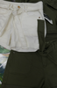 18pc VANILLA STAR Belted Jean Shorts GREEN Ivory #17518c ()