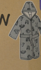 8pc KIDS Woodrow Sherpa Lined Robes #17650k (M-1-7)
