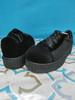 12prs Womens H2K Velvet Sneakers BLACK #20426M (J-1-6)
