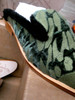 48prs FREE PEOPLE Fur Lined SLIDES Shoes GREEN #20672E ()