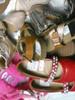 12prs GIRLS Big Brand Slides & Open Toe Shoes #20821Q (E-4-1)