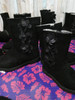 10prs YOUNGER GIRLS Laura Ashley Black Boots #21030c (p-5-6)