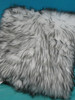 1pc Big Store LUXE Faux Fur Pillow Grey #20699G (G-1-3)