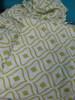 1 SET = 6pc Chic Green & White Sheet Set QUEEN #20701G (I-1-3)