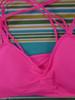 24pc Neon Pink X-Back Padded Sports Bras 32A 32B 34A 34B 34C 36B 36C #22275x (C-5-4)