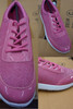 12prs Womens SPARKLE PINK Sneakers #22948G (h-1-4)