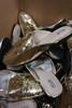 15prs Womens GOLD Sequin Mule Slides H2K #22952G (o-1-5)