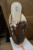 15prs Womens ROSE GOLD Sequin Mule Slides H2K #22953G (u-1-6)