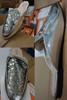 15prs Womens SILVER Sequin Mule Slides H2K #22954G (N-4-3)