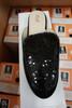 15prs Womens BLACK Sequin Mule Slides H2K #22955G (E-2-3)