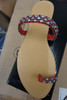 15prs Womens Faux Diamond & Red Pearl Sandals #22956G (I-4-3)