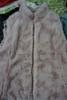 6pc Nichole Miller REVERSIBLE Faux Fur Vest Jackets LARGE #23863K (O-2-2)