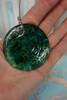 Barbra King Garden Bell Artisan Glass Windchime AQUA / GREEN #24196J (Q-4-4)