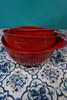 2 SETS = 6pc KitchenAid Mixing Bowl w/ Pour Spout Set RED #24103J (J-5-5)