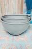 2 SETS = 6pc KitchenAid Mixing Bowl w/ Pour Spout Set STEEL BLUE #24214K (H-4-5)