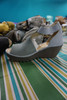 13prs $200 Womens FLY LONDON Leather Wedges #24223K (B-9-7)