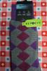 18prs AlfaTech Alfani Repreve Socks GRY / PRPL Argyle #24427A ( L-2-4)