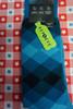 11prs MENS AlfaTech Alfani Repreve Socks BLUE Argyle #24428A (L-4-2 )