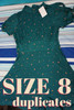 13pc FREE PEOPLE Dresses *SIZE 8 ONLY* Green #24459c (Z-2-4)