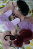 12prs Womens INC Fur Slide Slipper Sandals #24492F (Y-9-4)