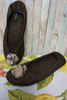 50pc $1,400 in QVC Dennis Basso Slippers BROWN SMALL #24582L (y-7-5)