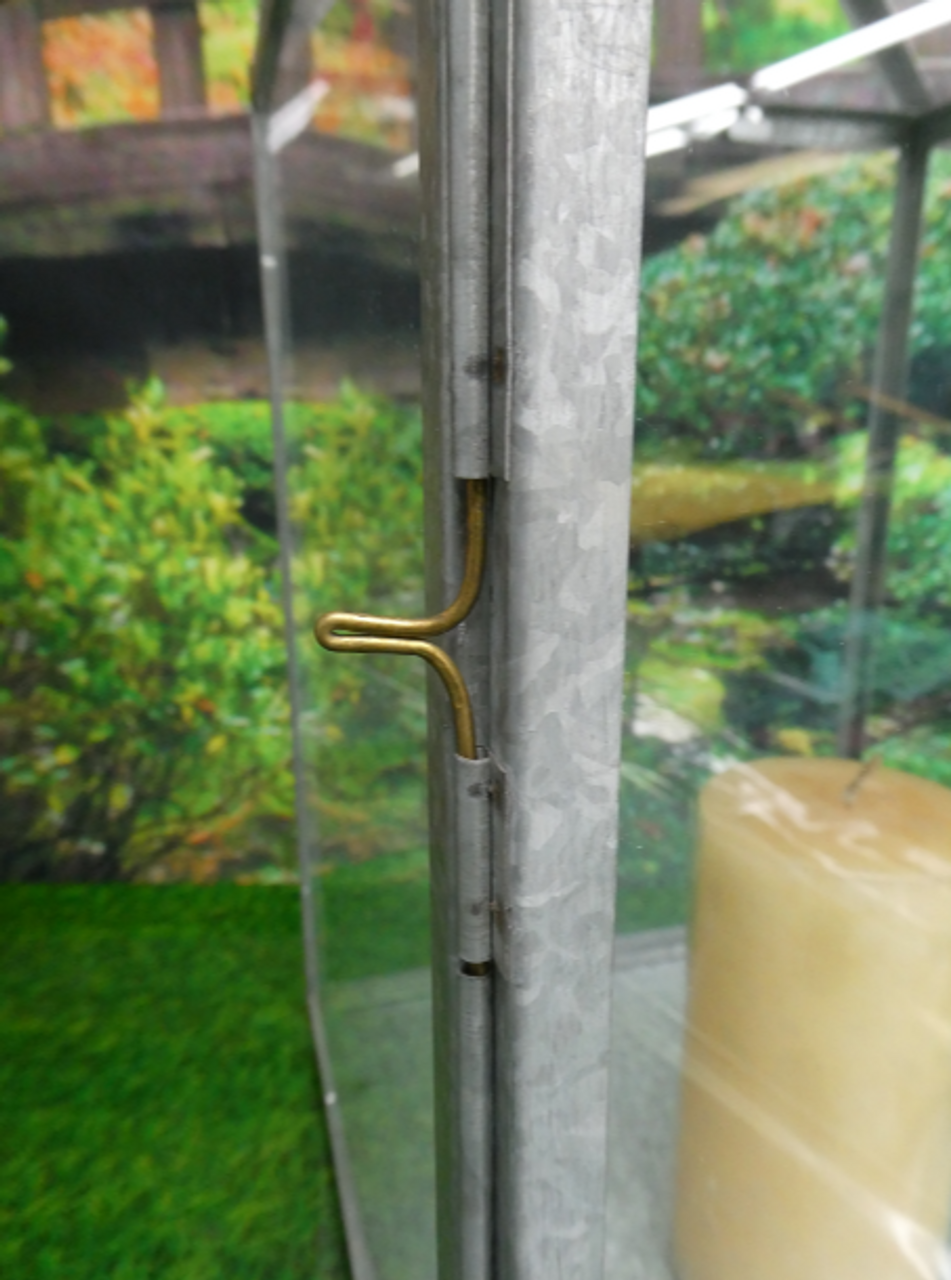 1 GIANT LANTERN Glass & Metal DECOR #15248T