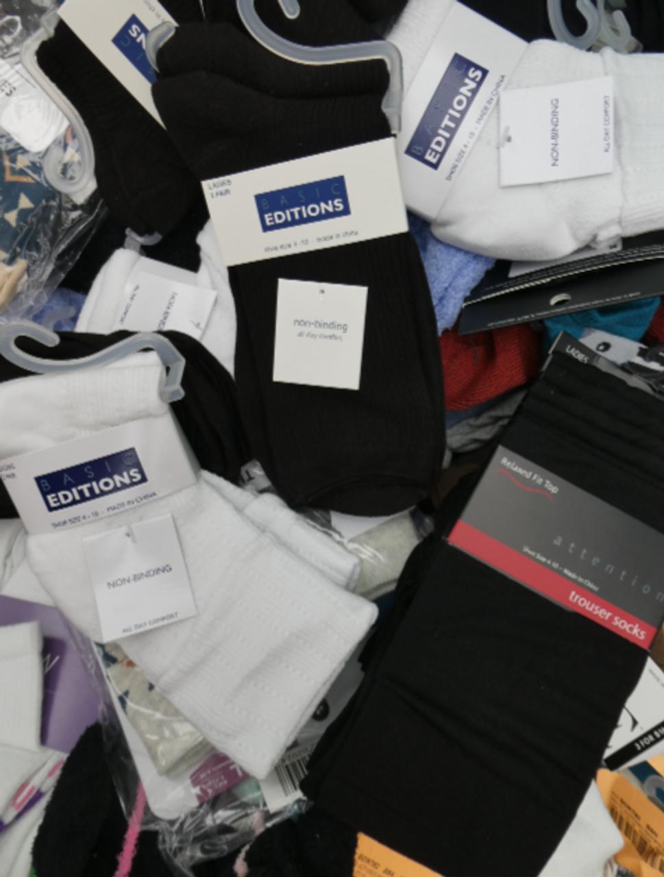 10+pc Grab Bag Womens SOCKS & SETS #15585k (l-3-2)