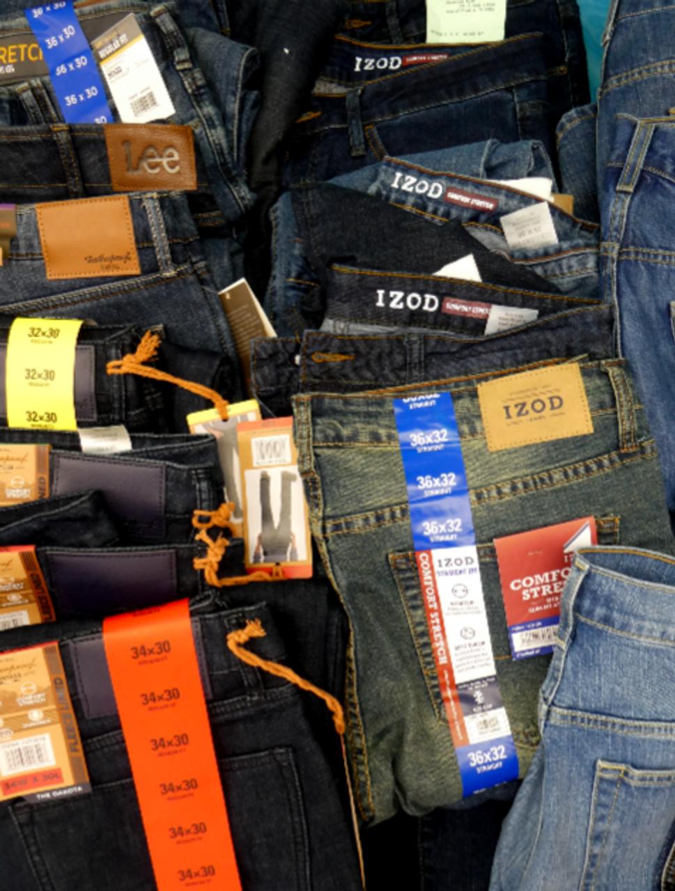 wholesale sales 50% off arrives 21pc MENS JEANS Weatherproof LEE IZOD #16863N ()