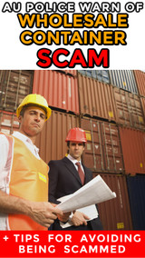 Online Sellers: AU Police Share New Wholesale Shipping Container Scam