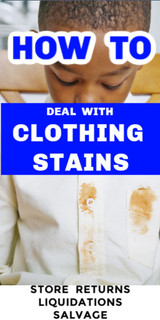 Store Returns: How to Remove Stains From Clothing