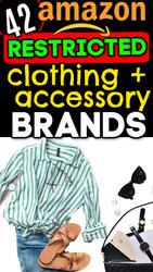 Online Sellers: 42 Clothing & Accessory Brands Amazon will NOT UNGATE