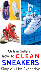 Online Sellers:  How to Clean Sneakers to Resell + Simple Tips
