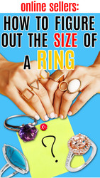 Online Sellers: How to Determine the Size of a Ring with No Tag