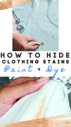 7 Ways to Easily Hide a Stain on Clothing Using Paints & Dyes
