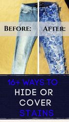 16+ Ways to Hide STAINS on Clothing