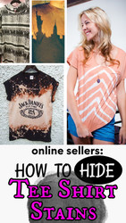 Online Sellers: How to Hide a Stain on Tee Shirts