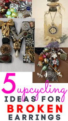 5 EASY Upcycling Ideas for Damaged EARRINGS / CHARMS / PENDANTS