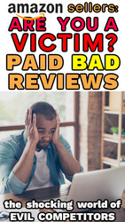 Amazon Sellers: COMPETITOR SABOTAGE: People Get PAID to Write BAD Reviews
