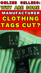 Why are Manufacturer (Interior Name Brand) Tags on Clothing Sometimes Cut in Half?