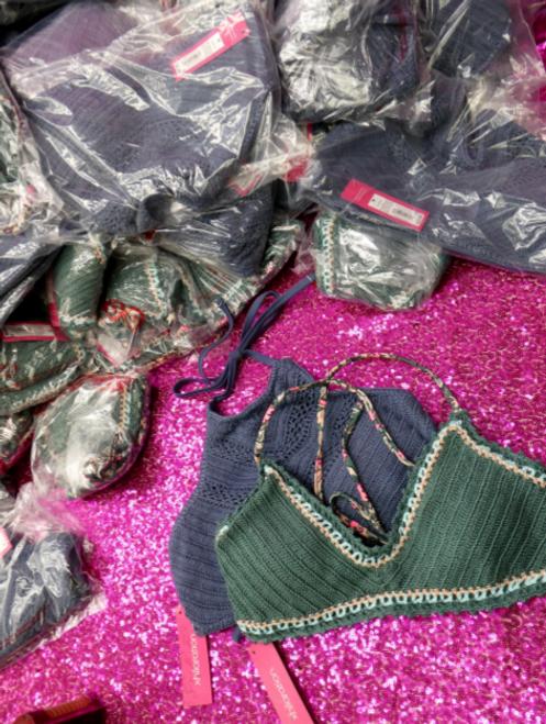 15pc $315 in MEDIUM Knit Bikini Tops #15154P (p-5-4)