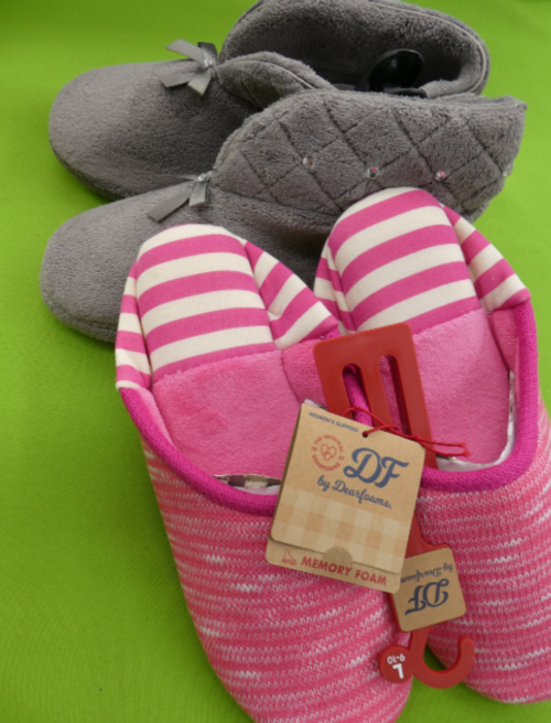 6pc GRAB BAG Womens Slippers #15043T (j-5-4)
