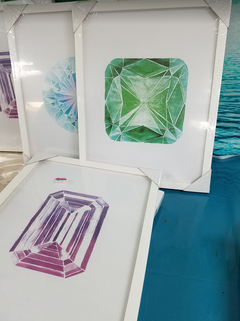 "8pc $320 in GRAB BAG 19"" Art /Frames #15310x (i-3-7)"
