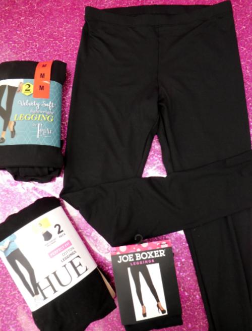 8pc Designer BLACK Womens Leggings #15527H (d-1-3)