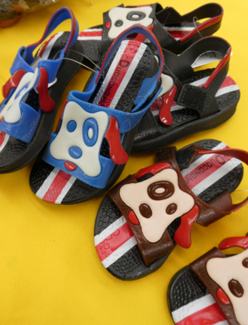 6pc Grab Bag Toddler Puppy SANDALS #15610L (k-2-3)