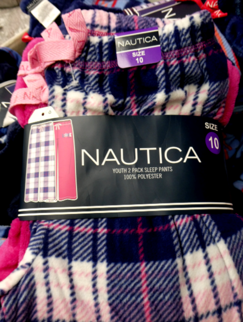 14 SETS = 28pc KIDS Nautica PJ PANTS #15656M (k-4-5)