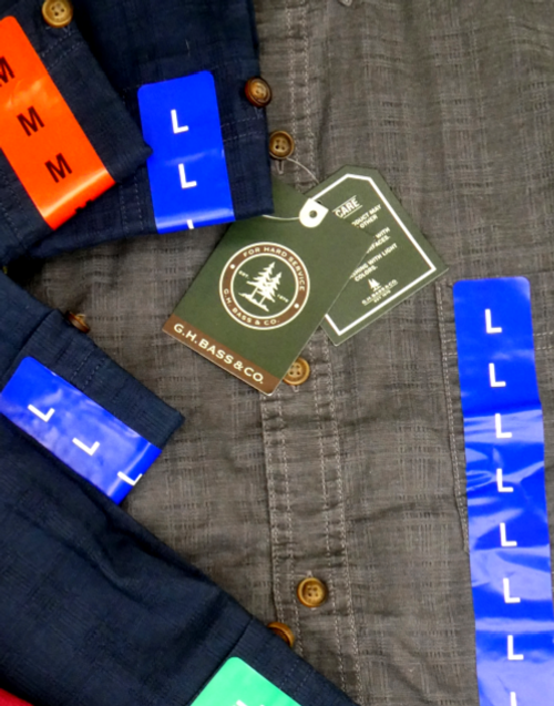 12pc MENS GH BASS Shirts #15928B (g-2-3)